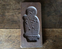 Vintage English sourced wood cookie gingerbread spekulatius mould circa 1950-60s / English Shop