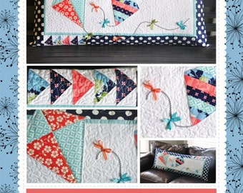 Lets Go Fly a Kite Bench Pillow Pattern designed by KimberBell
