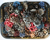 Vintage Valve/Faucet Handles 120 Handles/Super As-Is Batch-FREESHIPPING-Faucet Knobs-Funky Crafts Handles-Altered Art-Found Art