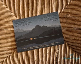 PRINTED Camping or Scout Party Invitations, set of 25