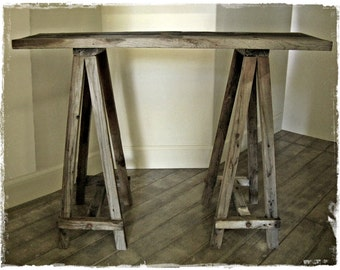 Tablery .||.  LONG weathered wood accent table