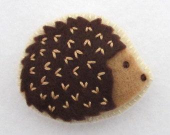 Felt Hedgehog Pin / Brooch
