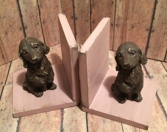 Dog Decor: Dachshund Dogs Set of Bookends Available in a Variety of Colors
