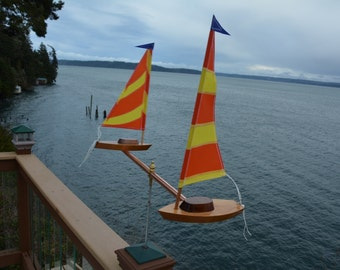 NEW DESIGN : Two Boat Whirligig