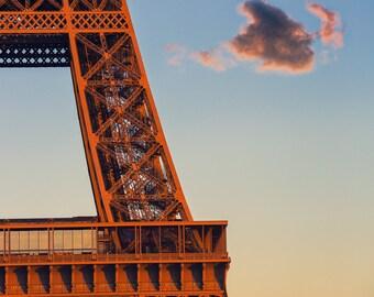 Red Cloud Eiffel Tower Paris - 8x10 Fine Art Print