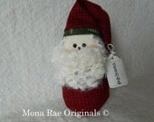 Santa Doll ~ 8 Inches tall ~ Red and White Santa