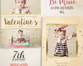 Be Mine 6 7x5inch CARD templates for photographers