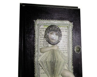 fairy tale altered book with found object artifacts old book sculpture original one of a kind