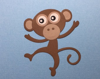 Large Dancing Monkey Die Cut for Scrapbooking Cards and Paper Crafts Embellishment Monkeys