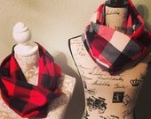 Buffalo Plaid Flannel Infinity Scarf