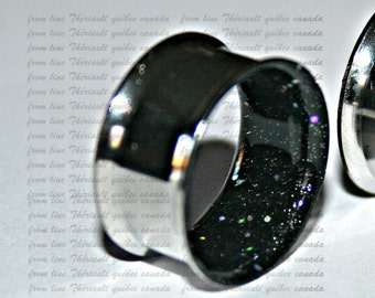 Cosmic glitters Stainless steel gauges, Ears plugs, Double flared or one flared (v270+08)