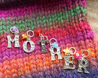Mother's Day Stitch Markers, Knitting gift for Mum
