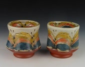 Pair of Cups for Wine, Whisky, Juice or Tea; Also called Yunomi