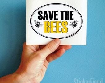 save the bees vinyl bumper sticker