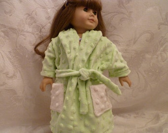 18 Inch Doll Mint Green Soft & Cuddly Robe and Four Piece Terry Cloth Towel Set