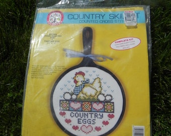 A Country Eggs Counted Cross Stitch Kit from 1988