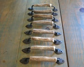 RESERVED FOR TRACI - 8 authentic deer antler cabinet pulls