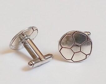 Soccer Ball Sport Cufflinks Futbol Cuff Links Wedding Groom Groomsmen Gift