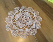 Vintage Hand Worked Butterfly Doily