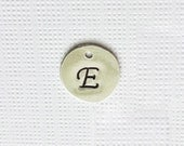 Sterling Silver Personalized Letter Intial Disc,  Add-On To Existing Order - Choose Font and Initial/Number