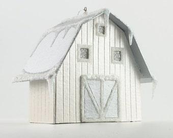 Paper House Ornament - Ohio Barn