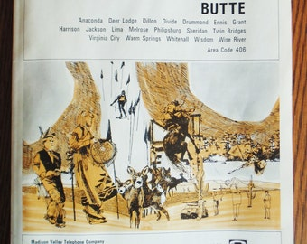 1969 Butte Montana Telephone Directory Anaconda Deer Lodge Dillon Divide Drummond Enis Philipsburg Whitehall Wise River Melrose Lima Grant