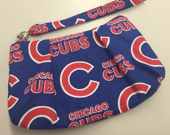 Chicago Cubs Double Pleated Wristlet