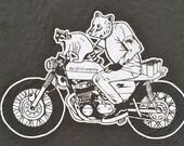 Garbage Hunters T Shirts, Raccoon, Bear, Motorcycle