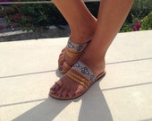 The Mesogeios - Evil eye sandal