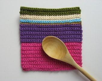 color block pot holder