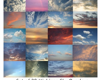 Sky Overlays, Sky Overlay, Cloud Overlay, Digital Sky
