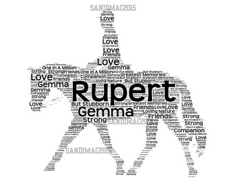 Horse Personalised Word Art Print Free Postage