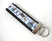 Wristlet Key Fob- Teacher Gift- Math Teacher KEY FOB- Wrist Keychain- Key Chain- Key Lanyard- Gift for Her- Gift for Him- Gift Under 10