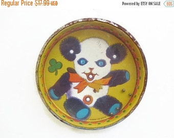 Autumn Clearance Sale Lithograph Tin Panda Puzzle Toy, Vintage Rolling Ball Toy