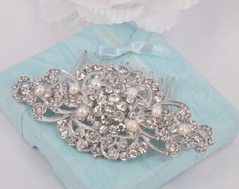 Christine - Vintage style Rhinestone Bridal Comb