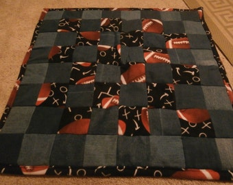 Football Baby or Lap Quilt