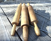 Vintage Lot of 3 Wooden Rolling Pins