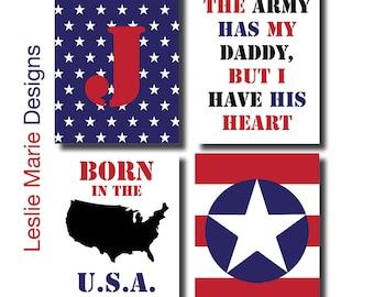 PATRIOTIC BABY Wall Art - Patriotic Nursery, Army Baby
