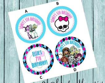 Set of 12-60: Monster High - Favor Tags/Stickers