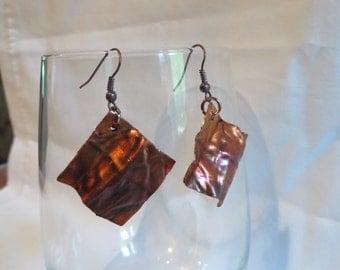 Copper Dangles, earrings, dangle, copper