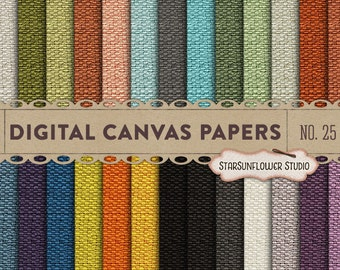 Canvas/Burlap Digital Papers No. 25