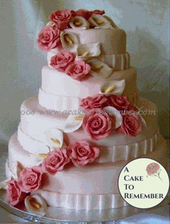 gumpaste flower wedding cake toppers gumpaste flower cascade for wedding cake sugar flowers 15024