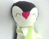 Penguin Toy with Scarf, Nursery Decoration