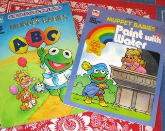 1980s Jim Henson's Muppet Babies Coloring and Paint Book UNUSED