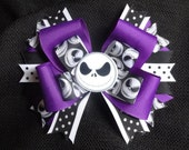 Nightmare before Christmas inspired hairbow, large 5 inch bow