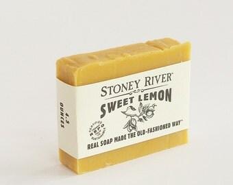 Lemon Natural Soap, Handmade Soap,  Cold Process Soap, Oily Skin Soap, Vegan Soap