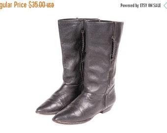 30% OFF Short  Black Boot Women's Size 6