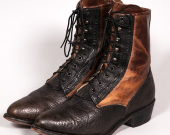 Two Tone DURANGO Lacer Boots Men's Size 10 .5 D