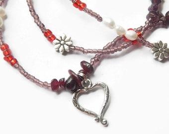 Waistbeads, Queen of Love Garnet Waist Beads