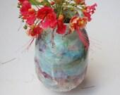 Seconds sale: Blue and purple (colorful) vase